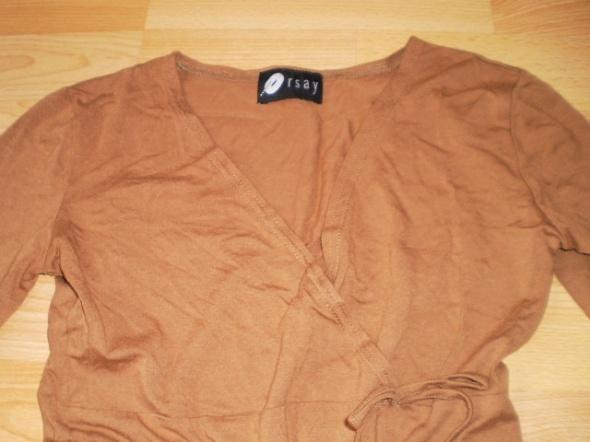 Bluzki Śliczna bluzeczka firmy Orsay KARMELOWA CAMEL