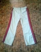 spodnie białe nike czerwone paski...