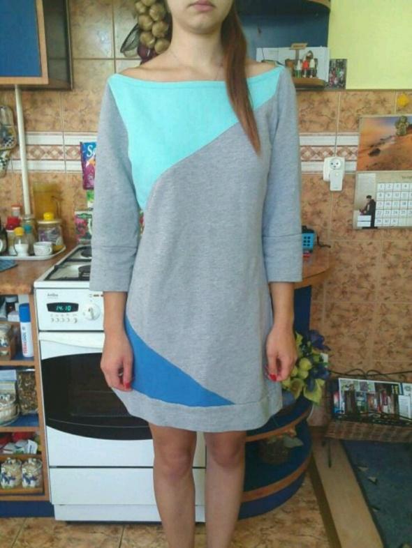 Tunika sukienka dresowa szara