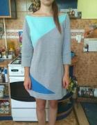 Tunika sukienka dresowa szara...