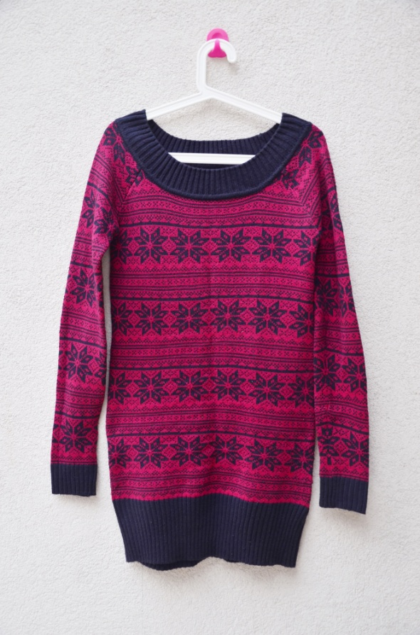 RESERVED stan idealny dłuższy sweter norweskie wz