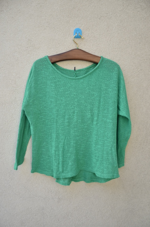 CUBUS zielony luźny sweter OVERsize...