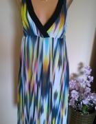 tęczowa sukienka