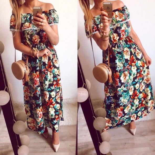 Suknia Damska w kwiaty hiszpanka M