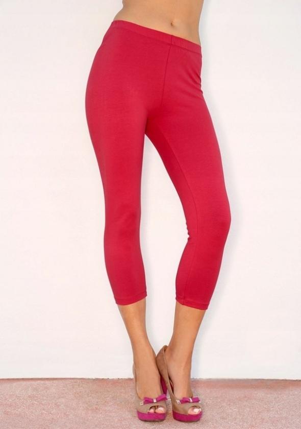 Czerwone bawełniane legginsy...