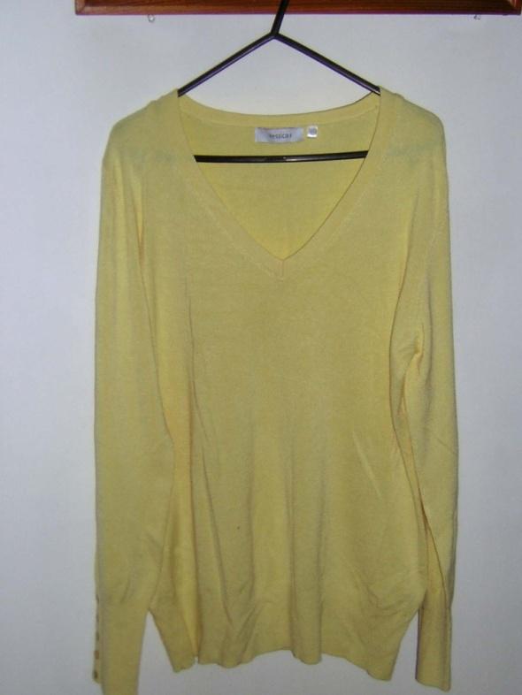 Bluzka sweterkowa cytrynowa