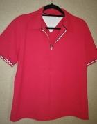 Czerwona koszulka polo z kołnierzykiem 48 50...