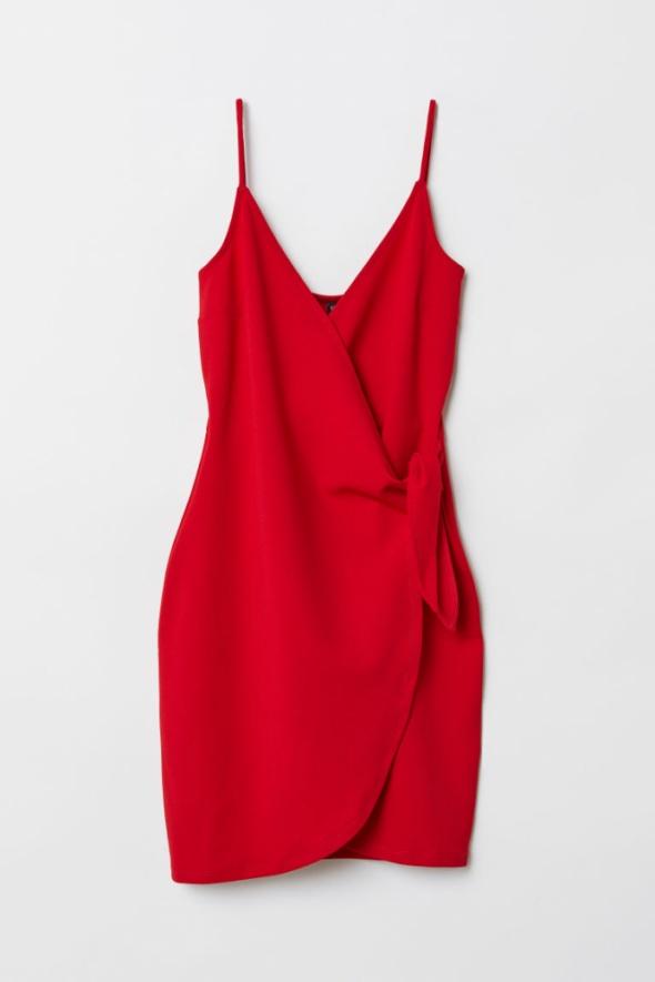 sukienka z dekoltem w serek