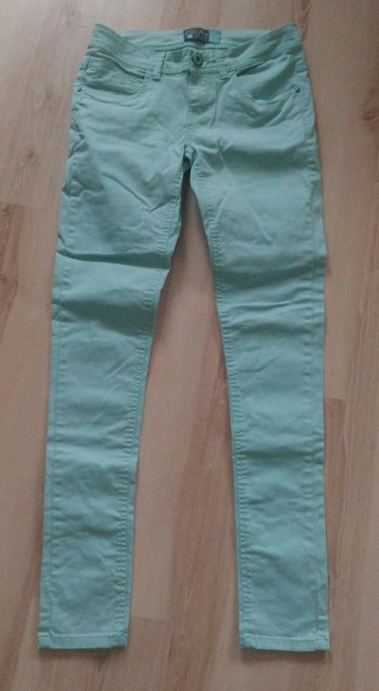 Spodnie rurki denim colour House miętowe XS okazja