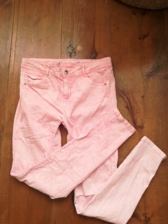 Spodnie Modne rurki Jeans wysoki stan Bershka XL