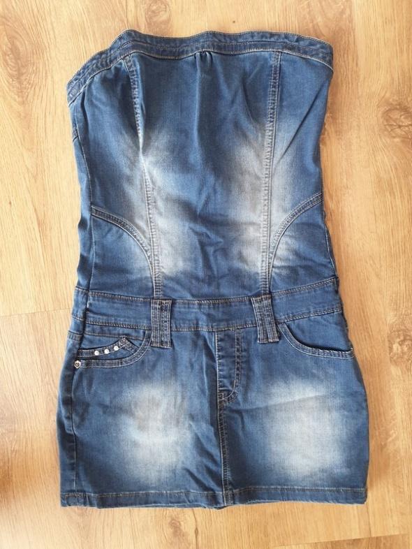 Krotka sukienka jeansowa
