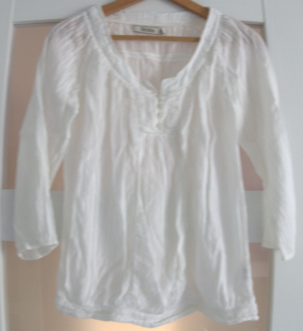 Biała elegancka bluzka koszula guziki...