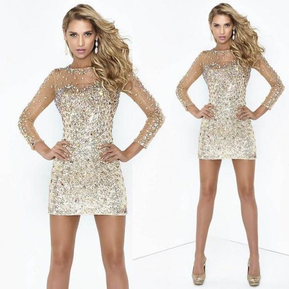 Sukienka na sylwestra sukienka z kryształkami lux