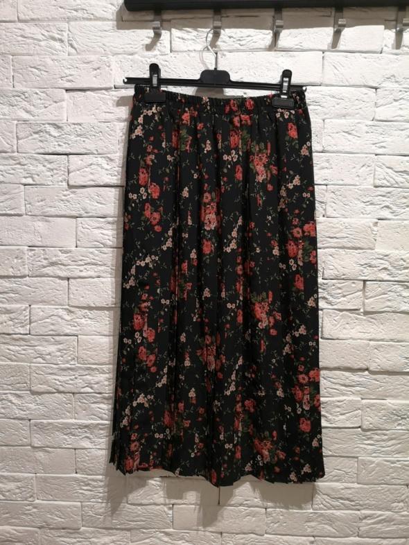 spódnica plisowana MIDI kwiaty S M L maksi floral plisy boho