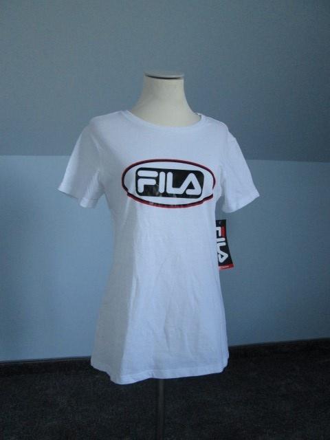 Biała koszulka Fila Tshirt z napisami