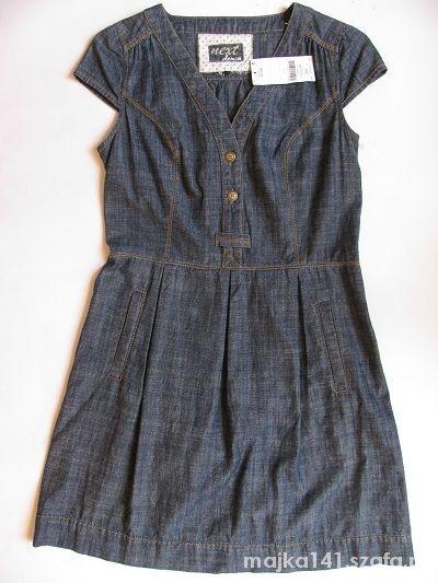 Suknie i sukienki NEXT NOWA REWELACYJNA DŻINSOWA SUKIENKA 40 42