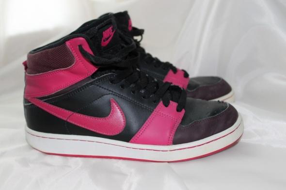 nike dunk różowe czarne wysokie za kostkę adidasy...