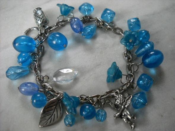 bransoletka brylok bryloczek niebieska błękitna