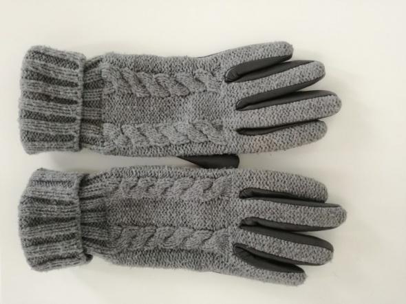 Szare rękawiczki