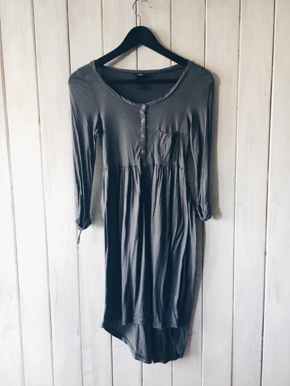 Tuniki szara asymetryczna tunika H&M