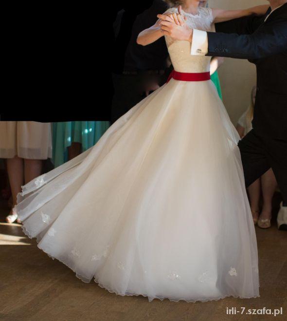 Suknia ślubna 2014 HEVRE Afrodyta 34 36 koronka