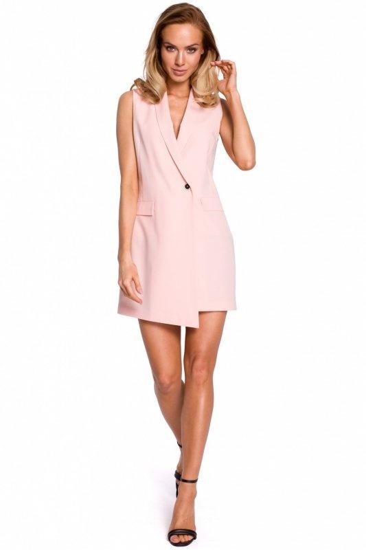 Sukienka różowa pudrowa L...