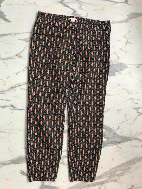 Spodnie chinosy cygaretki H&M 40 L 38 M kolorowe przed kostkę...