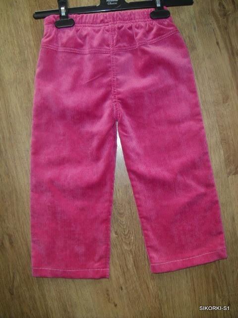 sztruksowe ciepłe lekkie spodnie