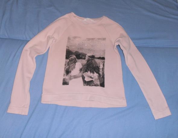 Różowa bluza aplikacja H&M 158164