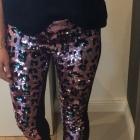 Cekinowe legginsy Asos M