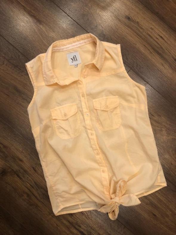 Brzoskwiniowa wiązana bluzka Reserved XS S morelowa