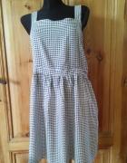 Sukienka w kratkę na szelkach 44...