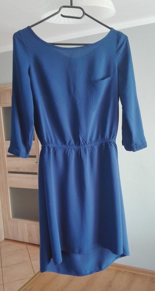 Niebieska sukienka HOUSE