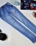 Rurki ONE LOVE DENIM zip dziury destroyed 26...