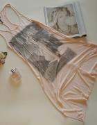 Top PRIMARK asymetria Marilyn Monroe róż XS...