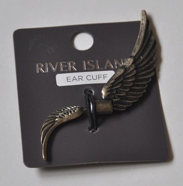 Kolczyk RIVER ISLAND nausznica skrzydło brąz...