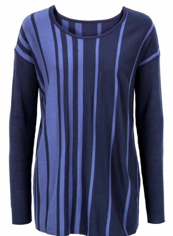 Pionowe pasy sweter w odcieniach niebieskiego...