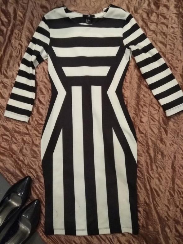 Sukienka H&M w paski XS