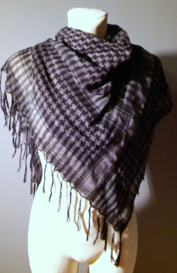 Chusty Arafatki biała i szara