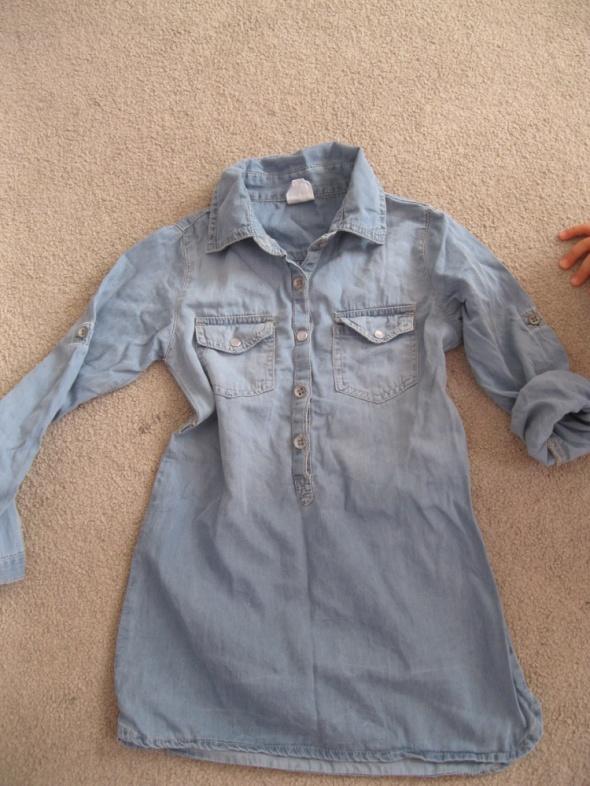 sukienka tunika jeans 110 max GIRLS niebieska