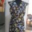 sukienka NEW LOOK 38 granatowa w kwiatki rozkloszowana
