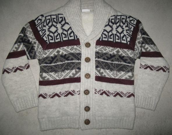 F&F Kids bluza sweterek chłopięcy zimowy roz 116