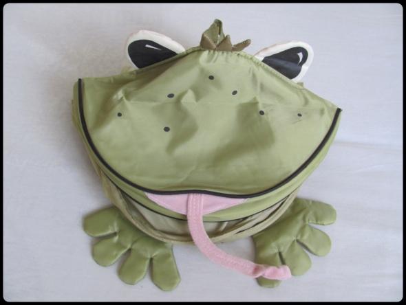 Organizer wisząca półka zielona żaba do pokoju dziecięcego