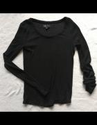Czarna bluzka z długim rękawem Reserved M...