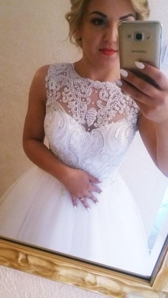 Suknia ślubna kryształki UKRCHIC 2658 s 36 m 38