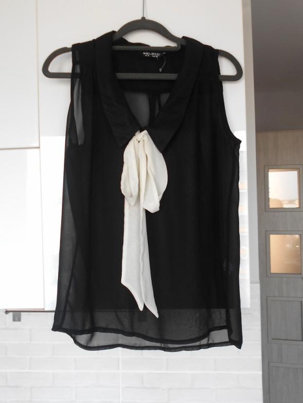 Select bluzka mgiełka minimalizm kokarda wstążka...