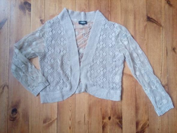Swetry Narzutka sweterek z koronką L XL