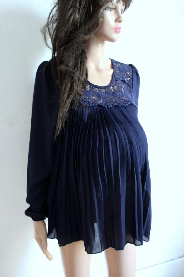 Granatowa plisowana bluzeczka idealna na ciążę r S