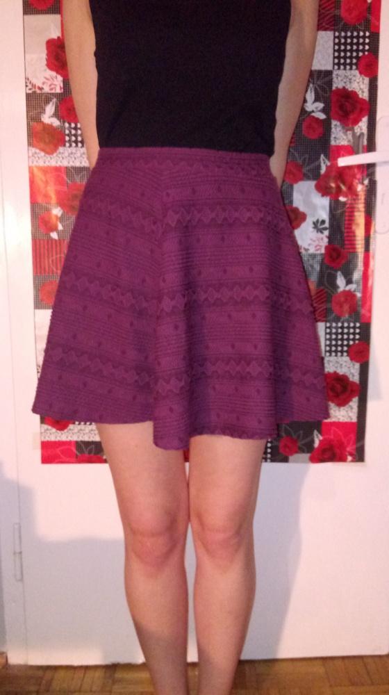Spódnice Bordowa fioletowa mini