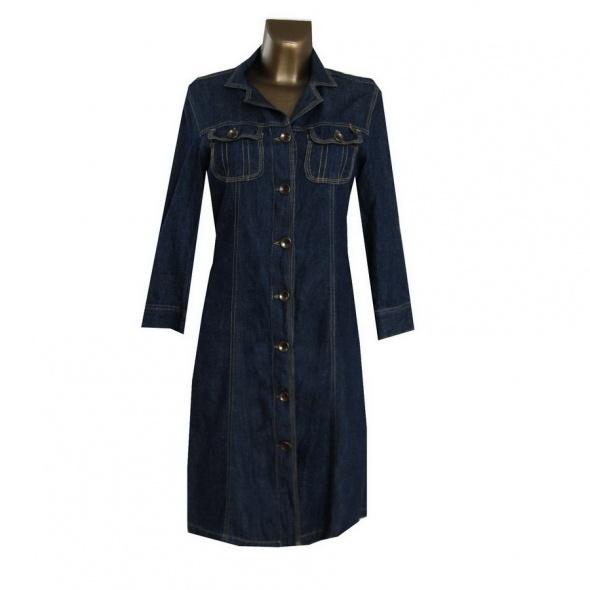 Dżinsowa Sukienka Tunika 38 M